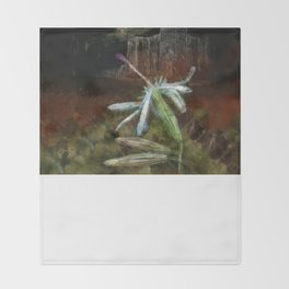 The Nottingham Catchfly (Silene nutans) ~ Flowers of the Night Throw Blanket
