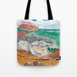 Crocodile emphisema Tote Bag