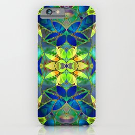 Floral Fractal Art G373 iPhone Case
