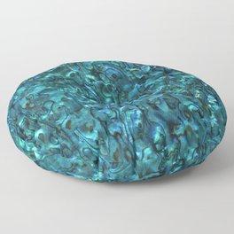 Abalone Shell | Paua Shell | Sea Shells | Patterns in Nature | Cyan Blue Tint | Floor Pillow