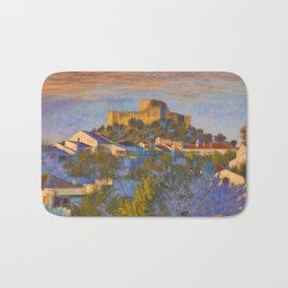 dawn at Belver castle, Portugal Bath Mat