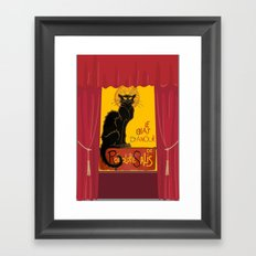 Le Chat D'Amour with Theatrical Curtain Border Framed Art Print