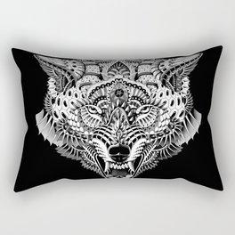 Wolf Head Rectangular Pillow
