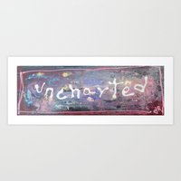 uncharted Art Prints featuring uncharted by songs for seba