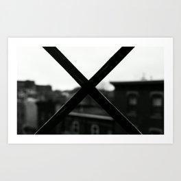 X MARX THE SPOT. Art Print