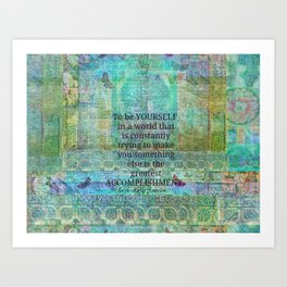 Ralph Waldo Emerson motivational quote Art Print