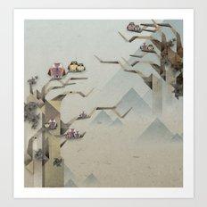 Orgami Owl 2 Art Print