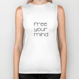 Free Your Mind (Black) T-Shirt Biker Tank