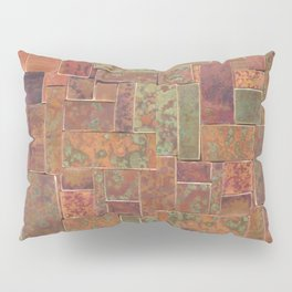 Red Patina Patchwork Pillow Sham