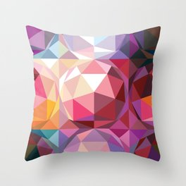 Geodesic dome pattern Throw Pillow