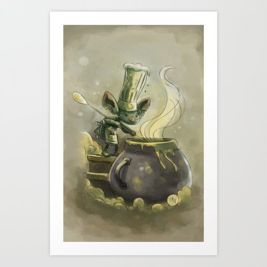 Goblins Drool, Fairies Rule! - Earwax Stew Art Print