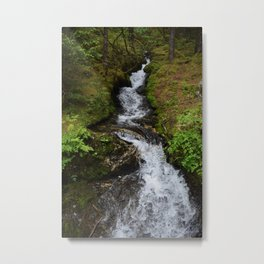 Shot on a Waterfall Metal Print