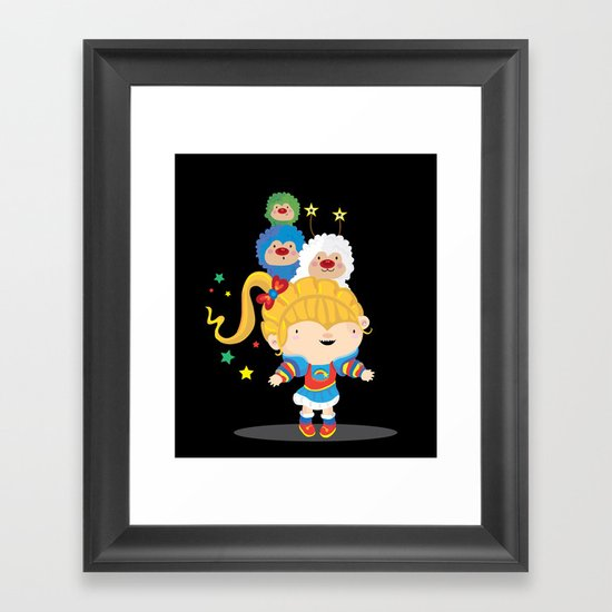 Rainbow bright Framed Art Print
