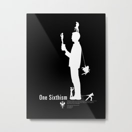 One Sixth Ism (White Statue) Metal Print