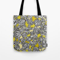 circles Tote Bags featuring Circles by Valentina Harper