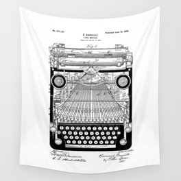 patent art Granville Type Writer 1900 Wall Tapestry