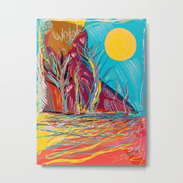 I Miss the Sunshine Abstract Landscape Fauvism Art Metal Print