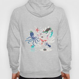 Marine animals have fun on the seabed by unPATO Hoody