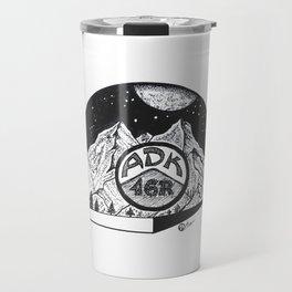 """ADK 46er"" Adirondack Mountains - Night Sky - Mountains - Original Artwork Travel Mug"