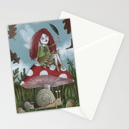 Autumn Fairy Stationery Cards