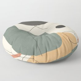 Abstract Minimal Shapes 25 Floor Pillow