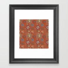 Snowflake Folk Pattern Framed Art Print