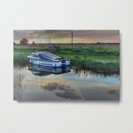 Boat at West Somerton  Metal Print