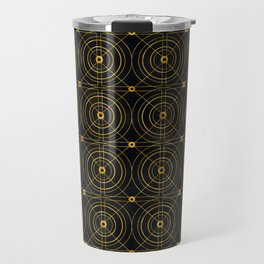 Art Deco Geometric Bull's Eye Elegance Pattern Travel Mug
