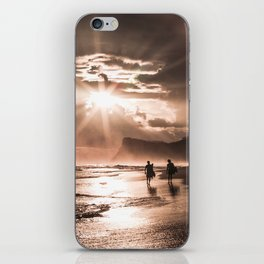 Pink Sunset Surf iPhone Skin