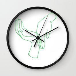 Jeux de mains Wall Clock