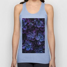 Sparkle Succulents Purple Blue Aqua Unisex Tank Top