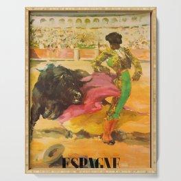 Espagne courses de Taureaux Travel Poster Serving Tray