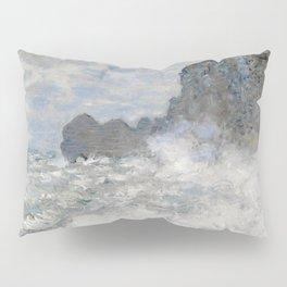 1883-Claude Monet-Rough weather at Étretat-65 x 81 Pillow Sham