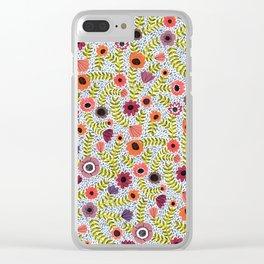 Floral by Veronique de Jong Clear iPhone Case