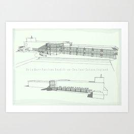 De La Warr Pavilion, Bexhill-on-Sea Art Print