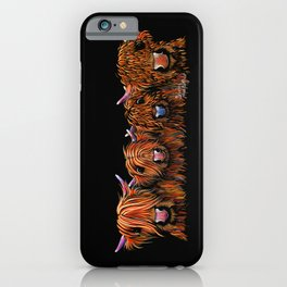 HiGHLaND CoW PRiNT SCoTTiSH ' THe GiNGeR NuTS ' BY SHiRLeY MacARTHuR iPhone Case