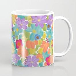 Wild Flowers Design Colorful Feminine Artsy Beautiful White Background Coffee Mug