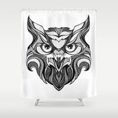 Owl - Drawing Shower Curtain