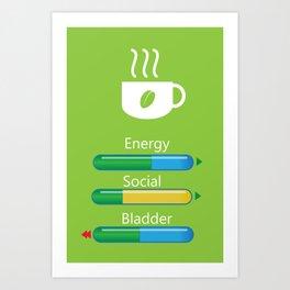 Coffee Changes my moods Art Print