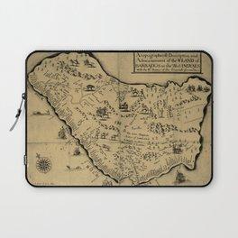 Vintage Barbados Pictorial Map (1657) Laptop Sleeve