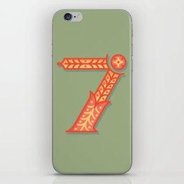 Alphabet Drop Caps Series- 7 iPhone Skin