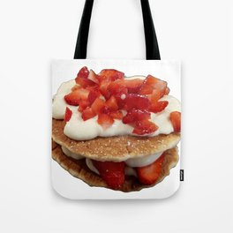 pancakes_strawberries_and_whip_cream Tote Bag