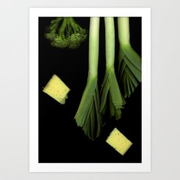 Leeks and Cheese Art Print