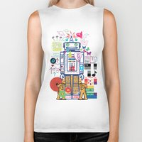coldplay Biker Tanks featuring we live in a beautiful world by Giulia De grazi