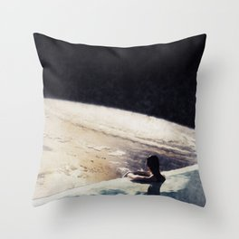edge of uncertainty Throw Pillow