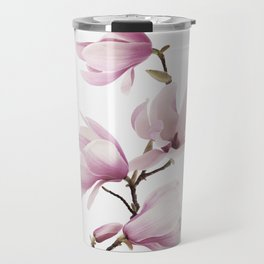 Flower, Magnolia, Plant, Pink, Fashion, Scandinavian, Minimal, Wall art Travel Mug