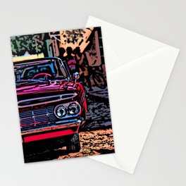Old american car in Trinidad, Kuba Stationery Cards