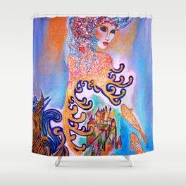 Midnight Sun #society6 #decor #buyart Shower Curtain