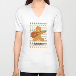 Gingerbread Ed Unisex V-Neck