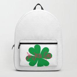 Jiu Jitsu Girl Irish St Patricks Day Shamrock Backpack